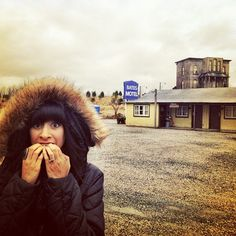 Terrified in front of #batesmotel #horror #psycho #hitchcock #langley #britishcolumbia #canada - @helslevy- #webstagram