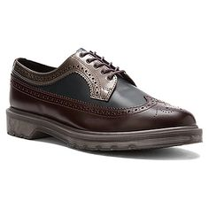 Dr. Martens 3989 Brogue Shoe | Women's - Oxblood/Navy/Pewter Patent - FREE SHIPPING at OnlineShoes.com