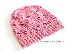 Free crochet pattern: Dragonfly Slouchy Hat in child and adult sizes by Pattern Paradise Crochet Stitches Free, Tunisian Crochet, Free Crochet, Knit Crochet, Knitting Designs, Knitting Patterns Free, Crochet Patterns, Hat Patterns, Free Pattern