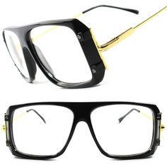 3c41664579 Details about Vintage Retro 80 s Large Oversized Square Hip Hop Mens Womens  Clear Lens Glasses. Versace FramesLensesEyewearShadesHip ...