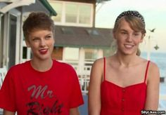 If you faceswap Justin Bieber and Taylor Swift, they look like a cute lesbian couple