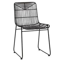 Trend Rattan Chair Black