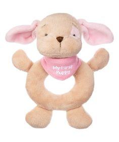 GANZ Pink My First Puppy Hand Rattle   zulily