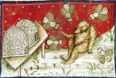 Winnie the Pooh, medieval style. Flore de virtu e de costumi. Padua 15th Century. British Museum.