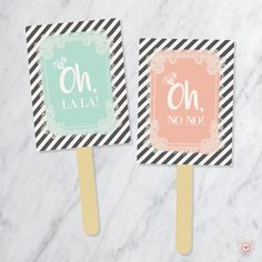 Say YES To The Dress Paddles - Wedding Dress Shopping Signs - Yes No Paddles by PrimandPopping on Etsy