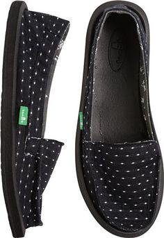 dots slip on shoe from Sanuk. http://www.swell.com/New-Arrivals-Womens/SANUK-SHORTY-DOTS-SHOE-1?cs=BL