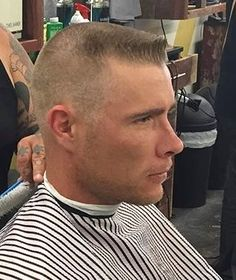 flattop haircut with rounded top