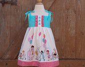 "INSTANT DOWNLOAD Girls Dress Pattern PDF Pattern  Dress Sewing Pattern  sizes 6m through to 5 years ""Chloe Dress"""