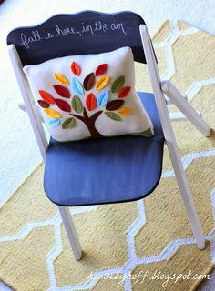 A Little Chalkboard Chair! - House by Hoff