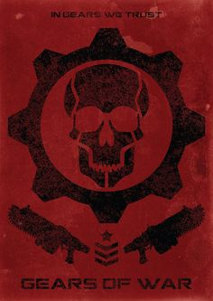 Gears Of War - In Gears We Trust Video Game Poster.  Item Description: To celebrate the release of Gears Of War 4 we have created this alternative poster withe Gears Of War emblem and the slogan In Gears We Trust. The prefect gift for the ultimate fan of the franchise or the ultimate gamer in your life! Sizes: Available in:  A2 - (420 x 594 mm) (16.5 x 23.4 in)  A3 - (297 x 420 mm) (11.7 x 16.5 in)  A4 - (210 x 297 mm) (8.3 x 11.7 in)  ****Please note this is an unofficial fan made item…
