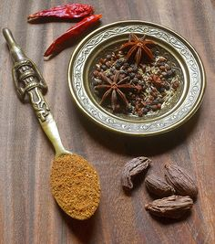 Uyghur Five-Spice Blend - Cumin seeds, Sichuan Peppercorns,  Black Peppercorns, Dried Red Chilies, Seed from Black Cardamom pods,Star Anise pods .., individually dry roasted and ground together