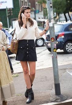 collage vintage button skirt