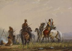 File:Alfred Jacob Miller - Expedition to Capture Wild Horses -Sioux ...