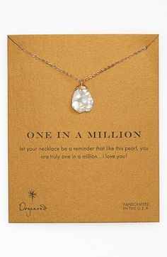 Dogeared 'One in a Million' Boxed Keshi Pearl Necklace available at #Nordstrom  thank you, ani. wearing it right now!
