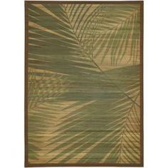 The LR Resources Palm Tree Natural 5 Ft. X 7 Ft. Eco Friendly Indoor Area  Rug Is Constructed Of Natural Bamboo For Quality And Durability.