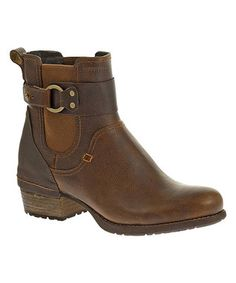 Oak Shiloh Pull Leather Bootie