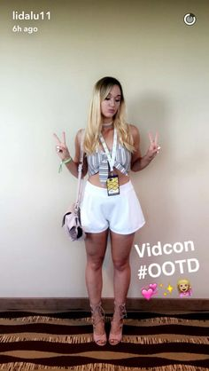Alisha Marie's VidCon outfit 2016