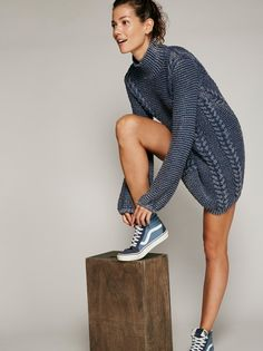 This sweater dress is perfect for staying cozy and fashionable.