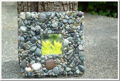 Beach Rock Mosaic Mirror {Mother Daughter Craft Idea}