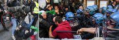 Taxi e ambulanti, Roma sotto assedio: scontri davanti a sede Pd, 7 feriti