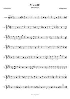 """Michelle"" the Beatles violin sheet music"
