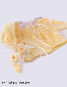 Newborn Set - free knitting patterns