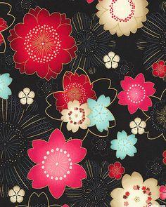 Satsuki 3 - Cherry Blossom Burst - Black/Gold