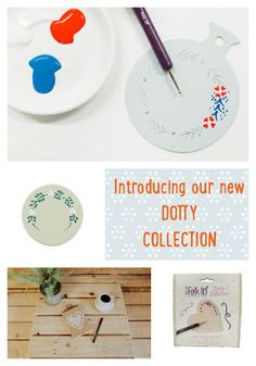 You Can Folk It Dotty Collection - Learn to paint with our step by step kits. Perfect whether you're aged 6 or 86.