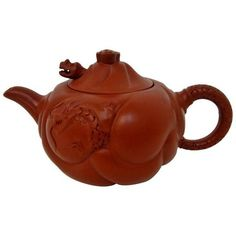 Chinese Ceremonial Teapot ($100) ❤ liked on Polyvore featuring home, kitchen & dining, teapots, coffee & tea service, tea pot, chinese teapot, red tea pot, chinese tea pot and red teapot
