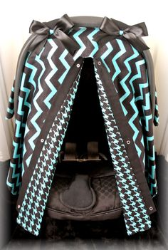 FLANNEL car seat canopy car seat cover teal by JaydenandOlivia, $39.99