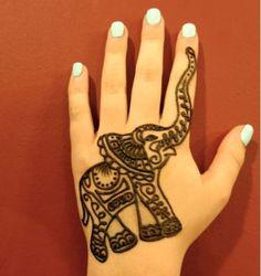 Elephant henna