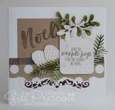 Pretty pines thinlits by Stampin' Up Winter Christmas, Christmas Cards, Holiday, November Colors, Winter Cards, Stampin Up, Lily, Seasons, Create