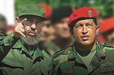 Fidel Castro and Hugo Chavez