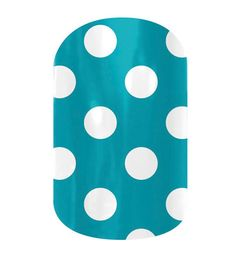 Turquoise Polka  nail wraps by Jamberry Nails-Darling on tootsies! They will last for 6 weeks on toes!