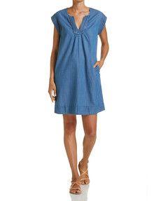 Tia Denim Dress perfect throw-on dress this summer Women's Fashion Dresses, Dress For You, Dresses Online, Shop Now, Cold Shoulder Dress, Summer Dresses, Denim, Womens Fashion, Casual