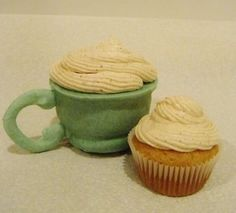 "You can even eat the ""teacup"" with these tea cupcakes!  Instructions show you how to make these 100% edible tea cups with mini tea flavored cupcakes inside of them.  The recipe I used is for Chai Tea Cupcakes with Cinnamon Butter Cream Frosting, but you may choose any flavor to use or even experiment and fill them with a chocolate mousse or pudding and top with marshmallows to imitate hot cocoa! Have fun with it and make it your own, hope you enjoy!"
