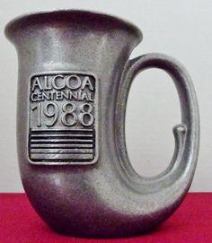#Alcoa #Vintage Cast #Aluminum Stein #Massena New York Plant #Centennial 1988 souvenir.