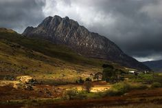 Tryfan below moody skys