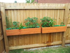 Two small planters made from recycled pallets
