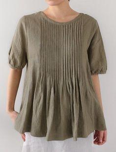 025f4e94 [Envelope Online Shop] Helmi Lisette | wardrobe - tops | Pinterest | Linen  blouse, Linen dresses and Shirts