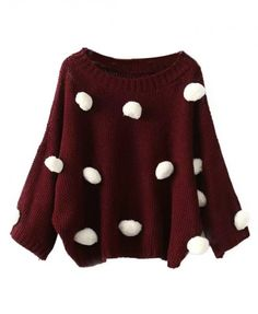 Love anything with polka dots! Especially a warm cozy sweater!