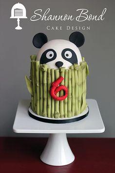 Panda Cake by Shannon Bond Cake Design www.sbcakedesign.com