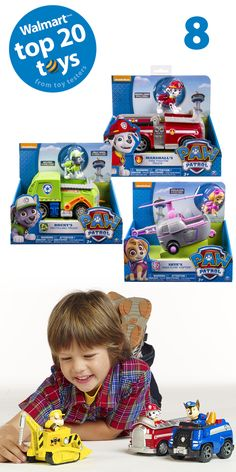 Paw Patrol Basic Vehicle with Pup: Every member of the Paw Patrol can pitch in and work as a team with their very own transforming vehicle #top20toys