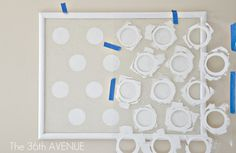 The 36th AVENUE | Craft Room: My Polka Dot Pin Board.