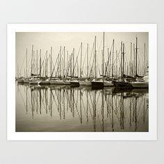 Boats Art Print by stephmel