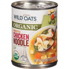 Wild Oats Marketplace Organic Homestyle Chicken Noodle Soup tastes like homemade but at less cost!