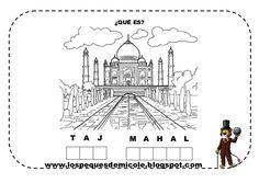 Fichas proyecto la vuelta al mundo Around The World In 80 Days, Around The Worlds, India And Pakistan, Taj Mahal, Indie, Homeschooling, Charts, La Vuelta, Infant Activities