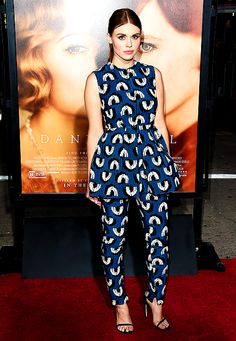 Holland Roden arrives at the Los Angeles Premiere Of Focus Features' 'The Danish Girl' at Westwood Village Theatre on November 21, 2015 in Westwood, California.