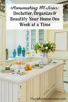 We all have clutter. Areas in our homes where items accumulate that we don't need or use. This next series of posts in the Homemaking 101 Series today is to help us to get rid of the clutter in our homes. @mferrell