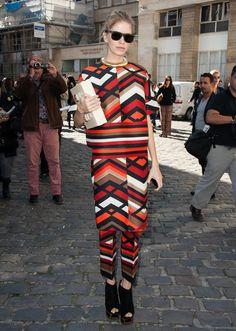 Elena Perminova Photos - Giambattista Valli: Arrivals - Paris Fashion Week Womenswear Spring / Summer 2013 - Zimbio
